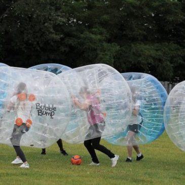 bubble bump au camping le petit lion